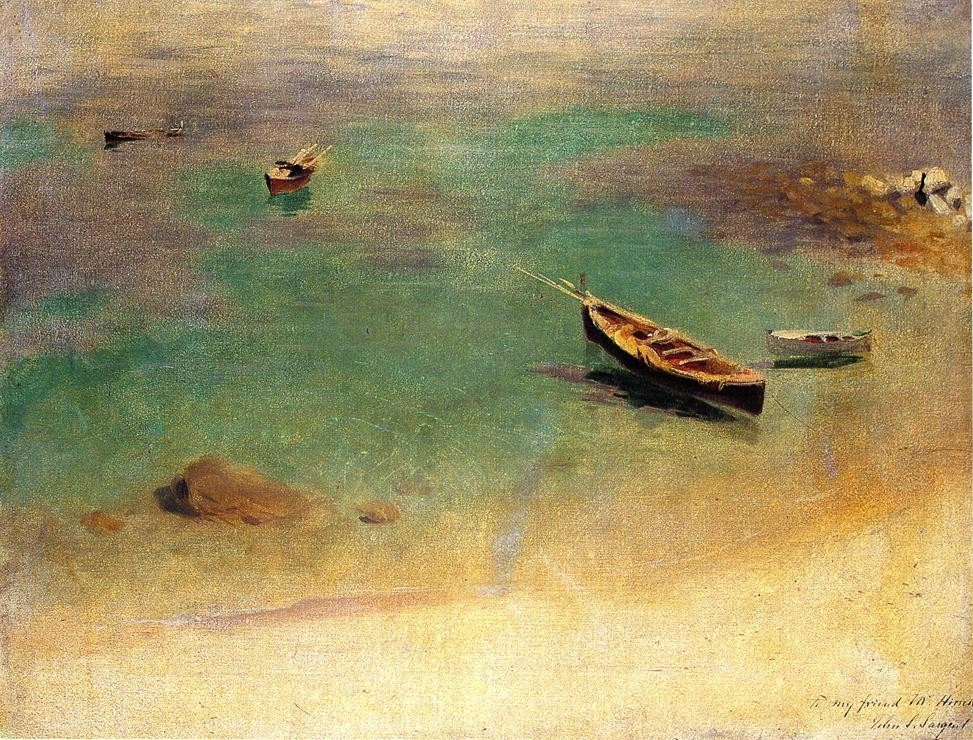 A boat in the waters of Capri, 1878